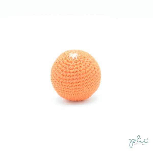 Boule de 6,5cm de haut et 5,5cm de diamètre, crocheté par Plic.