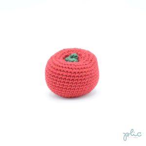 Tomate de 6cm de diamètre crochetée par Plic.